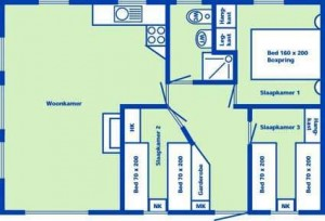 Plattegrond 6-pers. bungalow